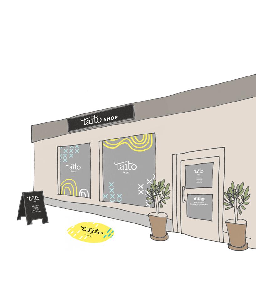 Taito Shopin ulkoasun visuaalinen suunnittelu