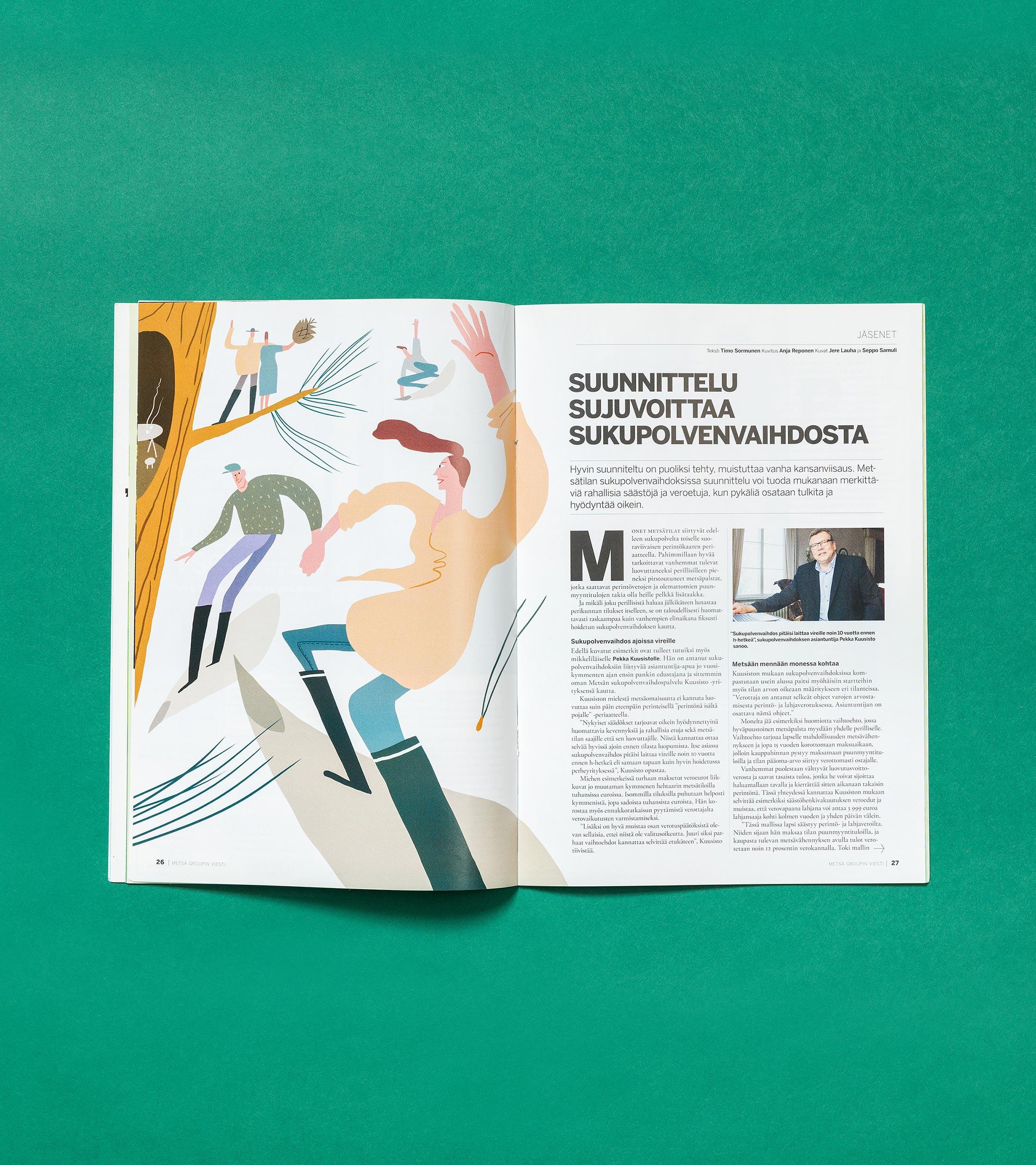 Viestin ulkonäöllinen lehtiuudistus on tuonut sen sivuille ajankohtaisen tyylisiä kuvituksia.