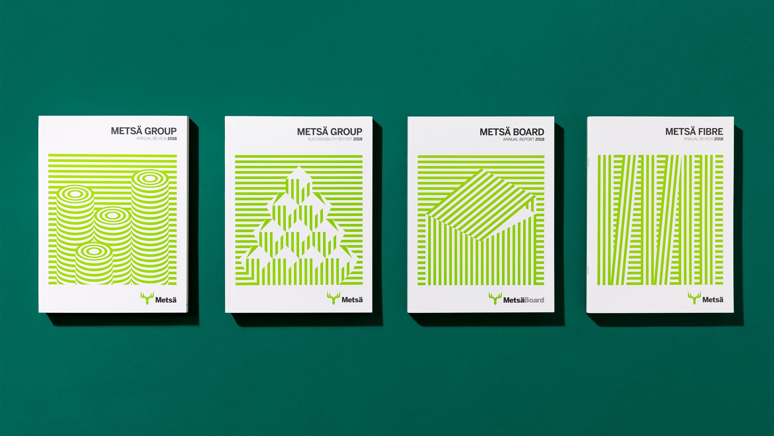 Vuosikertomukset saivat minimalistiset kannet