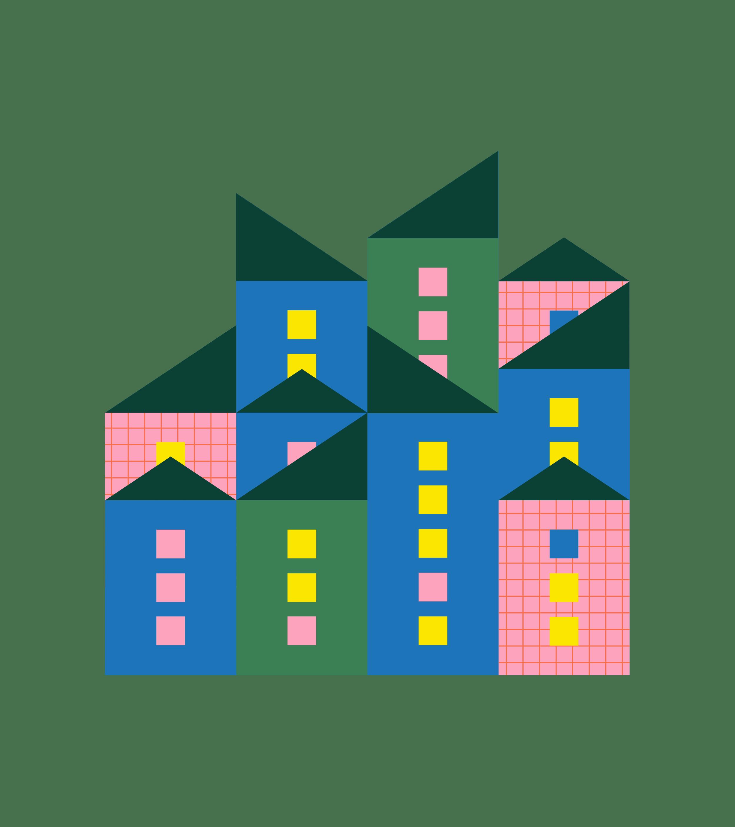 Kuvitus kaupungistumisesta
