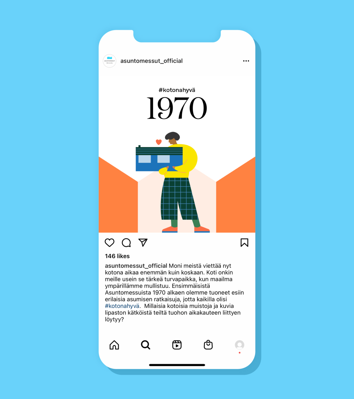 Brändi-ilme sovellettuna Instagram postauksessa